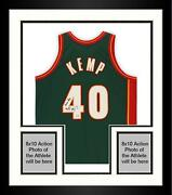 Frmd Shawn Kemp Supersonics Signed Mandn Green Authentic Jersey And Reign Man Insc