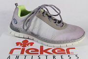 Rieker Ladies Lace Up Trainers Sports Shoes Low Shoes Gray New