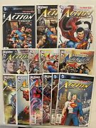 Superman Comic Lot New 52 Action Comics 1-13 With Extras See Listing Vf+/nm Bb