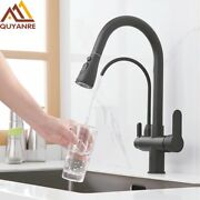 Kitchen Faucet Deck Mounted Pull Out Water Tap Three Ways Sink Mixer Crane Home