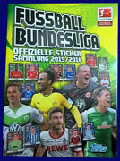 Bundesliga 2015-2016 Germany - 100 Complete Topps Album Stickers Trading Cards