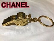 Whistle Key Chain Coco Mark Vintage 100 Authentic From Japan K11736