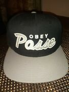 Obey Posse Grey Hat Snapback Pre Owned