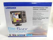 Lowrance Elite- 5hdi Sonar And Downscan Imaging Fishfinder + Chartplotter New