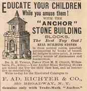 Advertisement Paper Ad Vintage Anchor Stone Buidling Blocks Toy F Ad Richter Co