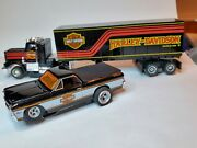 Harley Davidson Truck And 67 El Camino Ho Slot Cars Tjet Tyco And Aw Ultra G Minty