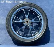 09-21 Harley Chrome 18 Rear Enforcer Wheel Tire Road Glide Touring Outright