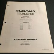 Cushman Haulster Supplementary Parts Manual P/n 823512 See Cover 559