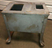 """Vintage Delta Rockwell 9""""table Saw/4"""" Jointer Combo Splayed Leg Stand On Casters"""