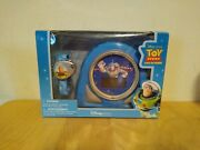 Toy Story Buzz Lightyear Cosmic Alarm Clock And Watch Set Disney Store Exclusive