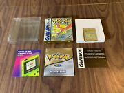 Pokemon Gold Version Nintendo Gameboy Color Complete In Box - New Save Battery