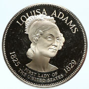 1972 Fm Us Usa White House First Lady Louisa Adams Old Proof Silver Medal I95816