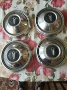 1960and039s Dodge Dart Plymouth Fury Satellite Dog Dish 9 Hubcaps Set Of 4 Mopar