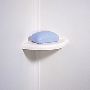 Swan Es20000.126 Solid Surface Corner 2-pieces Shower Soap Dish, 4.75-in L X H X