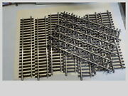 O Gauge Lot Of 10 Pieces Atlas 2 Rail 10 Nickel/silver Straight Track 7050 New