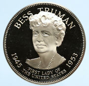 1972 Fm Us Usa White House First Lady Bess Truman Old Proof Silver Medal I95822