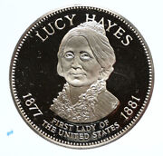 1972 Fm Us Usa White House First Lady Lucy Hayes Old Proof Silver Medal I95826