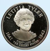 1972fm Us Usa White House First Lady Letitia Tyler Proof Silver Medal I95803