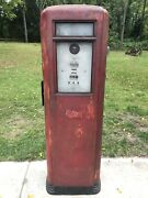 All Original Excellent Neptune 855 Tall Gas Pump Complete Station Oil Signs