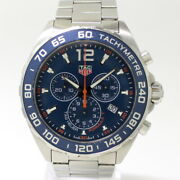 Secondhand Tag Heuer Menand039s Watches Formula Chronograph Quartz Ss Navy Dial