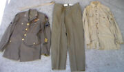 Ww2 Us Army Air Forces C.b.i. Medical Dress Uniform Jacket And Shirt And Pants Used