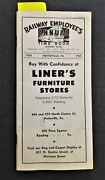 1958 Vintage Railway Employees Time Book Train Engine Men Rr Ads Yuengling Beer+