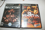 Def Jam Ny And Vendetta Boxes Manuals Covers Only + Gift Please Read No Discs
