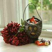 Halloween Fall Ragon House Collectable 8andrdquo Black Cat Pail/ Bucket