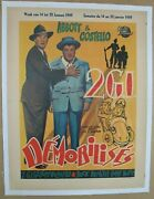 Buck Privates Come Home 1947 Belgian Poster On Linen, Abbott And Costello