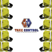 Take Control 10 Pack Winch Straps 4 X 30' With Flathooks Flatbed Tie Down Strap