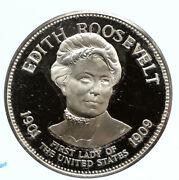 1972 Fm Us Usa White House First Lady Edith Roosevelt Proof Silver Medal I95837