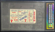 1952 World Series Ticket Game 7 Ebbets Field Dodgers Icert Authentic Clincher