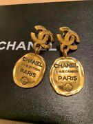 Earrings Coco Mark Vintage Accessories 100 Authentic Japan K12060