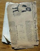 Antique Dean Little Folks Sewing Pattern 4629girlsand039 One Piece Apron Size 12yr