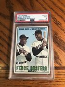 1967 Topps Baseball 423 Fence Busters Willie Mays/willie Mccovey Giants Psa 3