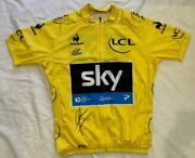 Chris Froome Signed 2013 Tour De France Yellow Cycling Jersey Sky Proof