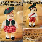 Lot Vtg New 70's Campbell Soup Kids Collectible Dolls Craft Kits Boy Girl Nos