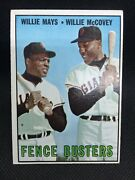 1967 Topps Fence Busters Willie May And Mccovey Mid Grade Card 423