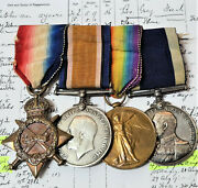 Ww1 Long Service Medal Group Petty Officer Lyne Royal Navy Served 22 Years