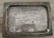 Antique Arts And Crafts Movement Brass Tray