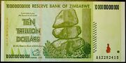 Ten Trillion Dollars...zimbabwe....at Least Xf Probably About Uncirculated