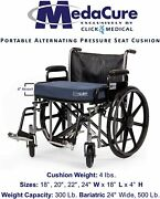 Low Air Loss Alternating Pressure Wheelchair Seat Cushion - Rechargeable W/pump