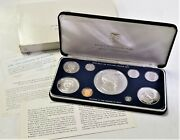 1976 Fm Coinage Of The Republic Of Panama 9 Coin Proof Set