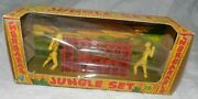 Vintage Unbreakable Plastic African Jungle Set Toy, New In Box, Mpc