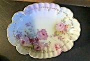 Antique Royal Crown Chantilly Rose Small Dish - Candy, Trinket, Dresser - Mint