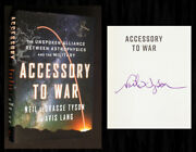 Neil Degrasse Tyson Signed In Person 1st Ed Accessory To War New Mylar Cover