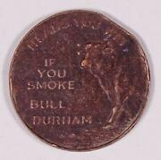 Bull Durham Heads Or Tails Original Whitehead And Hoag Token 1a5-219