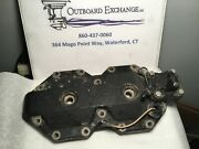 Omc Johnson Evinrude Cylinder Head 32624-4 And Thermostat Cover 329745