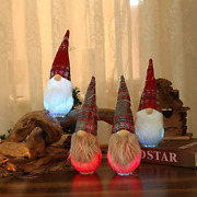 2 Pack Lighted Gnomes Christmas Hanging Table Decorations Holiday Led Color Cha