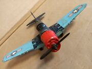 Hubley Kittie Toy Diecast Navy Fighter Bomber Airplane No. 495 / Free Shipping